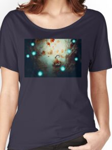 Spooky Tree and Pumpkin Women's Relaxed Fit T-Shirt