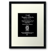 Shakespeare Othello Frontpiece - Simple White Version Framed Print