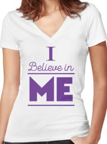 I believe in ME Women's Fitted V-Neck T-Shirt