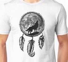 Moon Wolf Dream Catcher Unisex T-Shirt