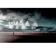 Coast...Wind walkers. Photographic Print