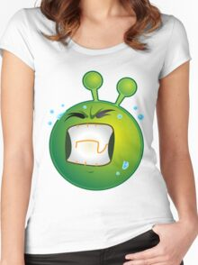 Funny Emotional Emoji For Emoji Lovers Women's Fitted Scoop T-Shirt