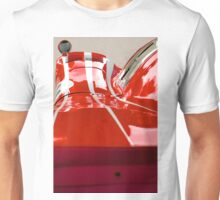 Racing lines in red and white Unisex T-Shirt