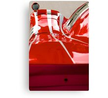 Racing lines in red and white Canvas Print