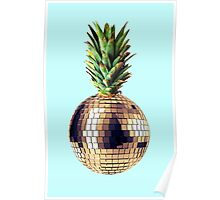 Ananas Party (pineapple) blue version Poster