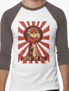 POKEMON PROPAGANDA: CATCH 'EM ALL Men's Baseball ¾ T-Shirt