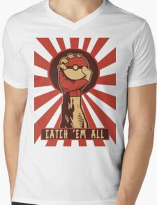 POKEMON PROPAGANDA: CATCH 'EM ALL Mens V-Neck T-Shirt