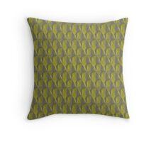 Green Textured Throw Pillow