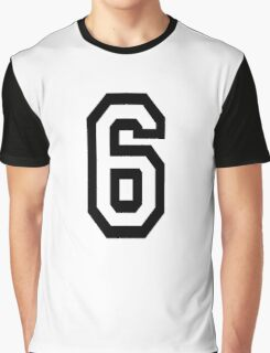 6, TEAM, SPORTS, NUMBER 6, SIX, SIXTH, Competition Graphic T-Shirt