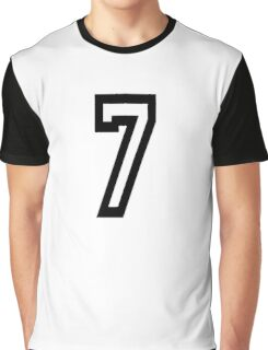 7, TEAM, SPORTS, NUMBER 7, SEVENTH, SEVEN, Competition Graphic T-Shirt