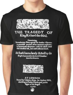 Shakespeare Richard III Frontpiece - Simple White Version Graphic T-Shirt