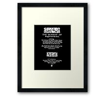Shakespeare Richard III Frontpiece - Simple White Version Framed Print