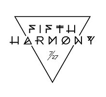 Fifth Harmony Official 7/27 Merch #3 ( Black Text ) Photographic Print