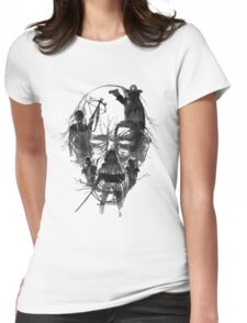 Walking face Womens Fitted T-Shirt