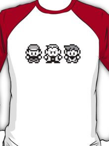 Pokemon All 3! Ash, Oak and Gary/Rival - Red / Blue T-Shirt