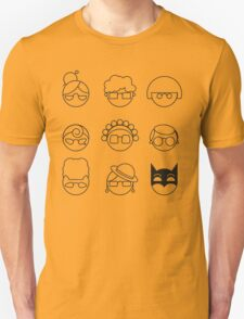 Nana-nana: Black and Yellow Unisex T-Shirt