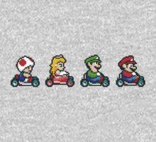 Kart Racing - Mario Kart 16bit Kids Clothes