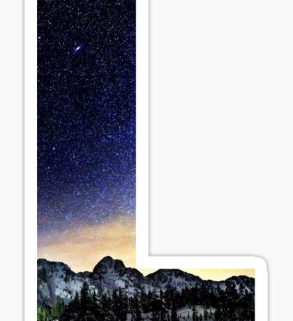 L Star Night Sticker