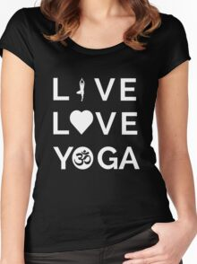Live Love Yoga - Yoga Quotes Women's Fitted Scoop T-Shirt
