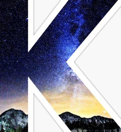 K Star Night Sticker