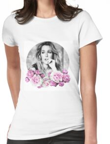 Gillian Anderson - Flower Queen Womens Fitted T-Shirt