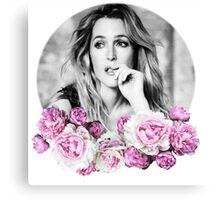 Gillian Anderson - Flower Queen Canvas Print