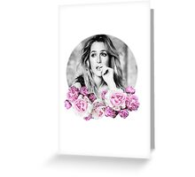 Gillian Anderson - Flower Queen Greeting Card