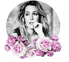Gillian Anderson - Flower Queen Photographic Print