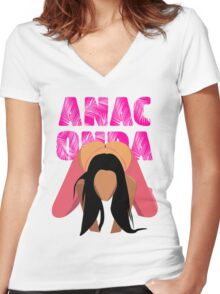 Anaconda Pt 2 Women's Fitted V-Neck T-Shirt