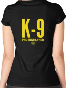 K-9 Photographer Women's Fitted Scoop T-Shirt