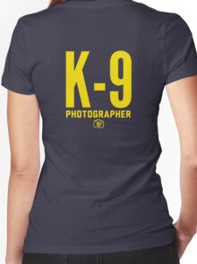 K-9 Photographer Women's Fitted V-Neck T-Shirt