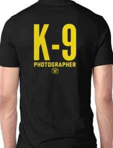 K-9 Photographer Unisex T-Shirt