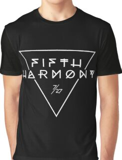 Fifth Harmony Official 7/27 Merch #3 ( White Text ) Graphic T-Shirt