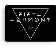 Fifth Harmony Official 7/27 Merch #3 ( White Text ) Canvas Print