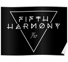 Fifth Harmony Official 7/27 Merch #3 ( White Text ) Poster