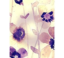 Coffee stain Flowers Photographic Print