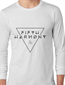 Fifth Harmony Official 7/27 Merch #3 ( Black Text ) Long Sleeve T-Shirt