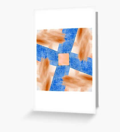 Abstract Wall and Sky Greeting Card