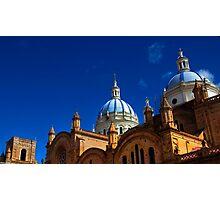 The Blue Domes Of Cuenca, Ecuador Photographic Print