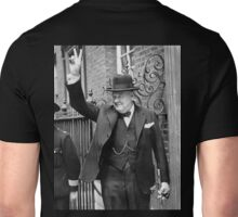Winston, Churchill, British prime minister, V sign, Victory, 1943, WWII Unisex T-Shirt