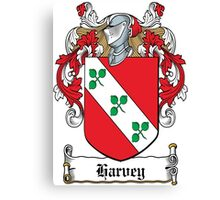 Harvey Coat of Arms (Donegal, Ireland) Canvas Print