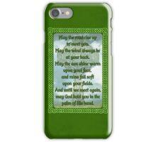 Green Irish Blessing iPhone Case/Skin