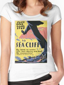 Vintage poster - Sea Cliff Women's Fitted Scoop T-Shirt