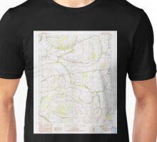 USGS TOPO Map Arkansas AR Round Pond 259531 1984 24000 Unisex T-Shirt