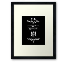 Shakespeare Richard II Frontpiece - Simple White Version Framed Print