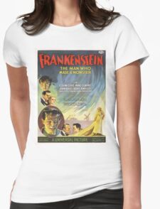 Vintage poster - Frankenstein Womens Fitted T-Shirt