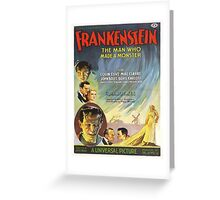 Vintage poster - Frankenstein Greeting Card