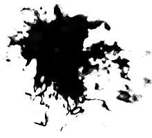Black Ink splat! Photographic Print