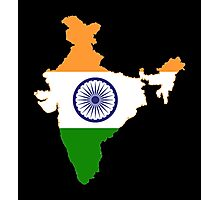 India Flag Map Photographic Print