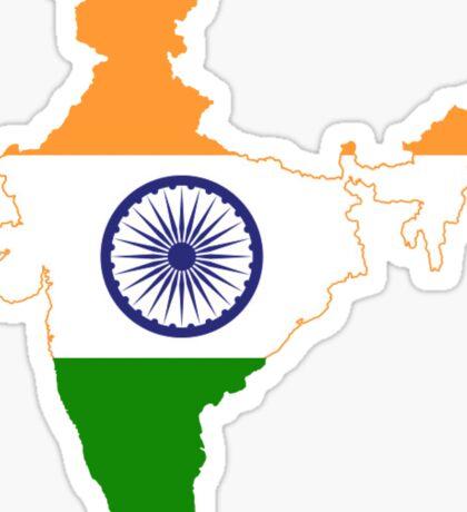 India Flag Map Sticker